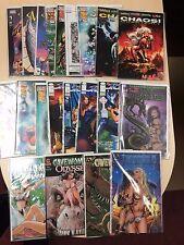 Big Lot of 21 Bad Girl & Mature Comic Books Threshold Lady Death Cavewoman Chaos