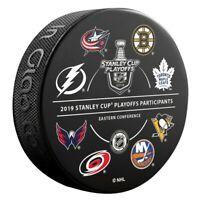 2019 All 16 Team Logos Stanley Cup Playoffs Puck Bruins Blues Hurricanes Sharks