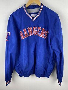 MLB Texas Rangers Mens Track Jumper Size L Windbreaker Pullover Sewn