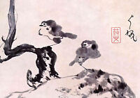 Framed Print - Vintage Asian Japanese Chinese Birds (Picture Poster Oriental Art