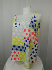 City Chic Plus Size Sleeveless Polka Dot Print Tank Top Ivory 16W (Small) #3279