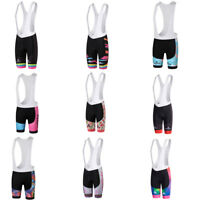 Women's Padded Cycling Bib Shorts Coolmax Ladies Bike Bicycle Bib Knicks S-5XL