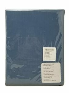 The Company Store Copen Blue Classic Percale Flat Sheet King 108x102in
