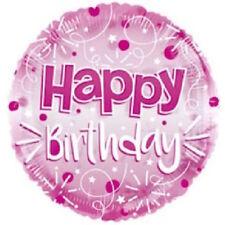 "24"" Pink Happy Birthday Foil Balloon Helium Ladies Party Decoration Supplies"