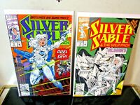 Silver Sable & The Wild Pack #3-4 Marvel 1992 BAGGED BOARDED