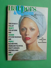 Harpers BAZAAR & Queen October 1973 Sandra Browne Richard Dormer RARE magazine
