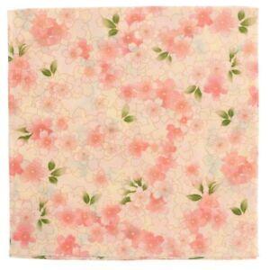 """Japanese Furoshiki Wrapping Cloth Scarf Tapestry 19.75"""" Cotton Pink Sakura"""
