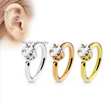 Fashion Star Open Nose & Ear Hoop Ring Gold Rose Gold Silver Piercing 62