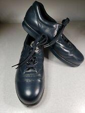 SAS Free Time Womens Sz 9.5N Navy Blue Leather Tripad Comfort Shoe Oxford Narrow