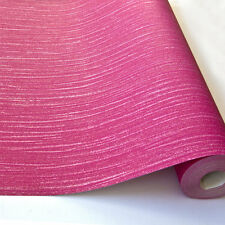 Grandeco Sfarzo Rosa Tinta Unita Lusso Glitterata Carta Da Parati Ruvida A11415