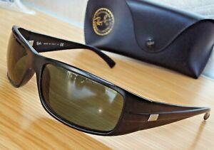 Excel.RAY-BAN RB4057 601-S matt.Black plastic G-15 Lens Sunglasses-misses emblem