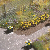 BNIB OO / HO BUSCH 9783 60 DAISIES - FLOWERS KIT - MODEL RAILWAY SCENERY