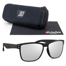 Jim Dale Sonnenbrille Unisex Schwarz Silber verspiegelt Kunsstoff UV400 Herren