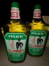 2 Vintage  Pinaud Clubman  After Shave Lotions  8 oz. Each Sealed Glass Bottles