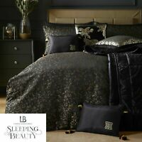 Laurence Llewelyn-Bowen Roar Leopard Print Duvet Cover Bedding Set Black/Gold