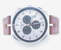 Mens Cerruti 1881 Chronograph Stainless Steel & Leather 61191 Wrist Watch