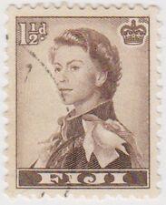 Stamp (F56) Fiji 1956 11/2d Sepia Fine used ow282