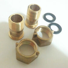 1 Pair Union Coupling PF 3/4 to PT 1/2  35mm long for water meter,tubing works