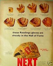 "1969 Rawlings ""HALL of FAME"" Baseball Gloves New York Yankees Mickey Mantle AD"