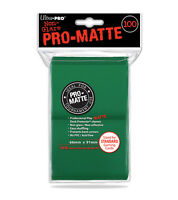 ULTRA PRO Deck Protector Non-Glare Matte Standard Green card sleeves (100 count)