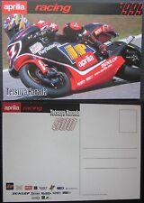 TETSUYA HARADA cartolina originale APRILIA RACING RSW-2 500 motogp motociclismo