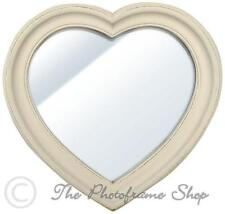 Wooden French Country Heart Decorative Mirrors