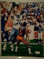 "Ed ""Too Tall"" Jones Signed Dallas Cowboys 8x10 photo JSA COA"