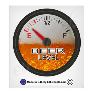"100mm-4"" Beer Level gauge Laminated Decal Sticker Vespa Laptop freezer tool box"