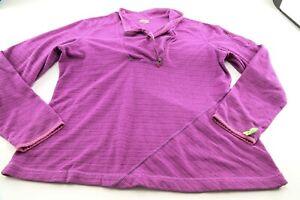 Athleta Jacket 1X Purple Pink 1/2 Zip Runner Jogger Women Fleece Polyester