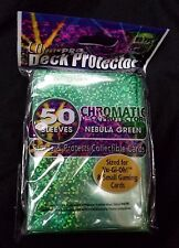 Ultra Pro Chromatic Deck Proctor 50 Sleeves Yu Gi Oh Size Nebula Green