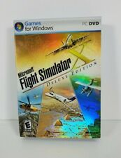 Microsoft FLIGHT SIMULATOR X Deluxe Edition WITH KEY PC DVD Excellent Condition