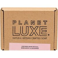 Planet Luxe Natural Artisan Crafted Soap Rose Petal 130g Bath & Shower
