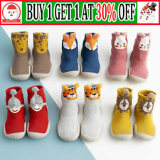Kids Baby Girl Boys Toddler Anti-slip Slippers Socks Cotton Shoes Winter Warm WS
