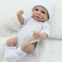 "10"" Full Silicone Vinyl Reborn Baby Boy Dolls Lifelike Handmade Birthday Gifts A"