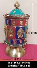 Tibetan Buddhist Handcrafted Spinning Prayer Wheel Table/Desktop Stand ~ Nepal