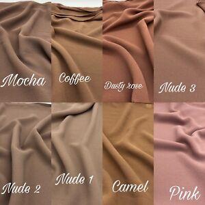 Plain Chiffon Scarf Hijab Maxi High Quality Sarong Shawl Wrap Soft Georgette