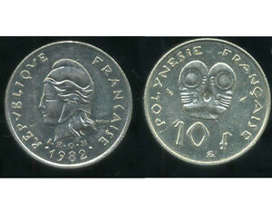 POLYNESIE francaise 10 francs 1982