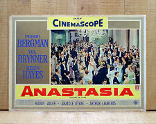 ANASTASIA fotobusta poster Ingrid Bergman Yul Brynner Helen Hayes Sala Ballo Y6
