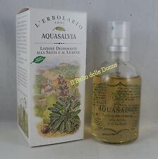 ERBOLARIO Aqua SALVIA lichene lozione deodorante 100ml Deodorant lotion Sage