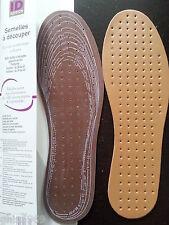 2 semelles en cuir synthétique et Latex, semelles à découper Multi-tailles,mixte