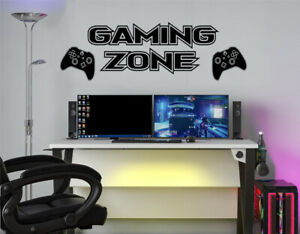 """Wall Quote """"Gaming Zone"""" Sticker Decal Decor Transfer Murals Living Wallpaper"""