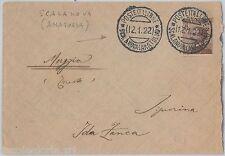 55584 - ITALIA / TURKIA - STORIA POSTALE : BUSTA da SCALANOVA (Anatolia)  1922