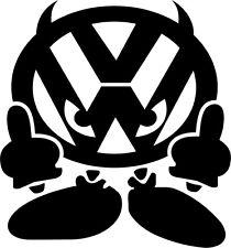 VW DEVIL JDM VW VAG EURO Vinyl Decal Sticker Skate Vag Golf Polo Gt Rs Turbo