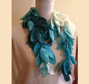Alize gold blue colorful batik leaf shawl neck wrap shawl/frequent gorgeous wrap