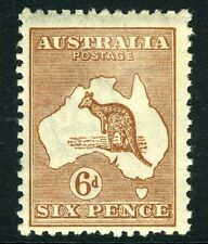 More details for australia-1923-24 6d chestnut sg 73 lightly mounted mint v12579