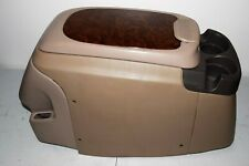 99-07 Ford Excursion Center Console Tan Wood Grain Cup Holder DVD Entertainment
