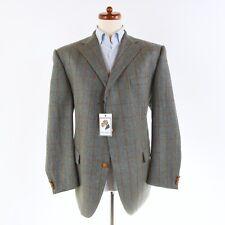 Aristokrat TWEED Sakko Jacket Super 100s Wolle Wool Windowpane Lordtex Elbogen