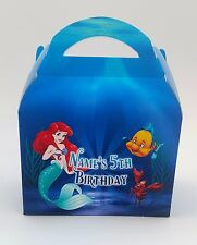 Little Mermaid Children's Personalised Party Boxes Gift Bag Favour 1ST CLASS