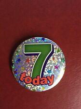 Badge bouton Anniversaire Personnalisé-Jumbo 75mm-noms e pour I