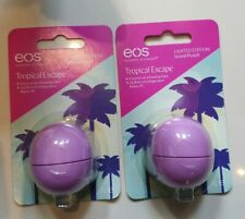 2 x EOS Tropical Escape Limited Edition Lip Balm 7g Brand New